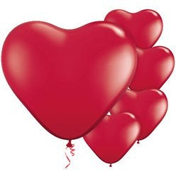 Red hearts Valentine's Day latex balloons