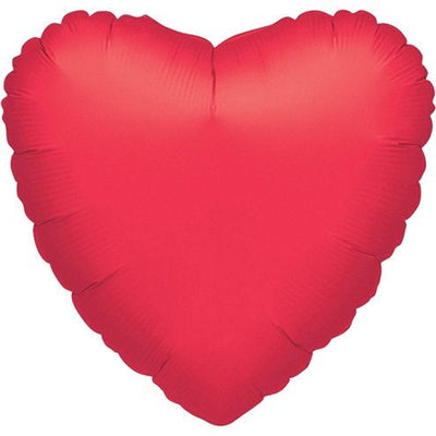 "Large Red Metallic Heart Shaped 32"" Foil Helium Balloon"