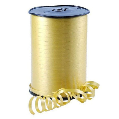 Gold Shimmer Curling Balloon and Gift Wrap Ribbon, 500m