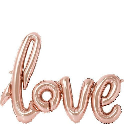 Rose Gold Love Foil Air Fill Balloon - 30""