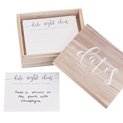 Wooden Date Suggestion Box - Wedding Gift - Alternative Wedding Guest Book