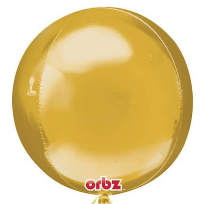 "Gold Orbz 16"" -  18"" Foil Helium Balloon"