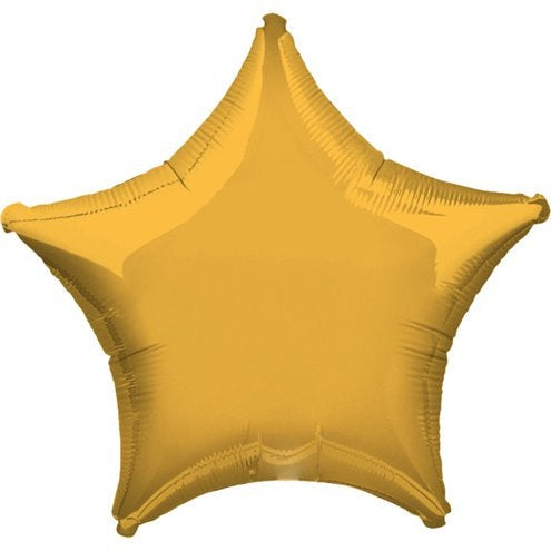 "Gold Star 19"" Foil Helium Balloon"