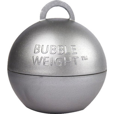 Silver Balloon Bubble Weight