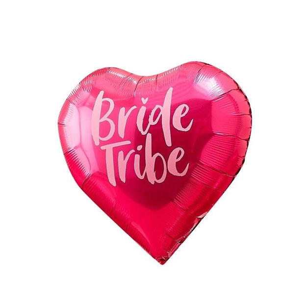 Bride Tribe Hen Balloons - Pink and Iridescent Hen Party Balloons - Pack of 5