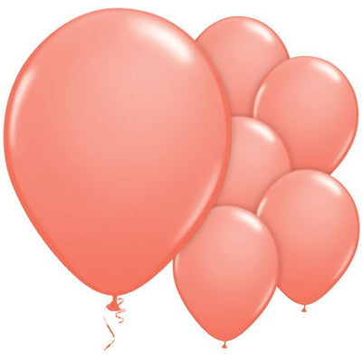 "Coral 11"" Round Latex Balloons"