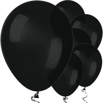 "Black 12"" Round Latex Balloons"
