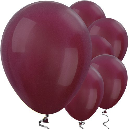 "Burgundy Metallic 12"" Round Latex Balloons"
