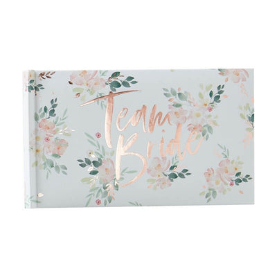 Team Bride Photo Album - Rose Gold Floral Photo Album - Hen Party Photos