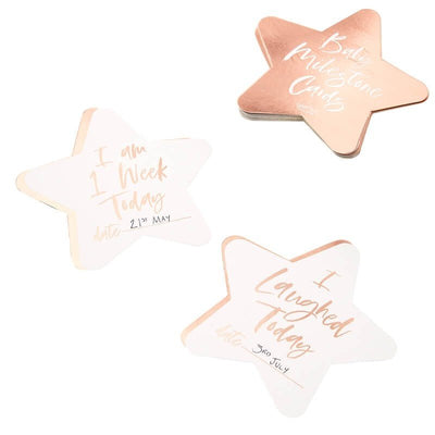 Rose Gold Baby Milestone Cards - Twinkle Twinkle Rose Gold Star Baby Milestones - New Baby Gift - Mum To Be Gift - Baby Keepsake