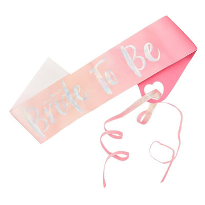 Bride To Be Sash - Pink and Iridescent Bride To Be Sash - Bride Tribe Hen Sash - Bachelorette Sash - Hen Party Sashes