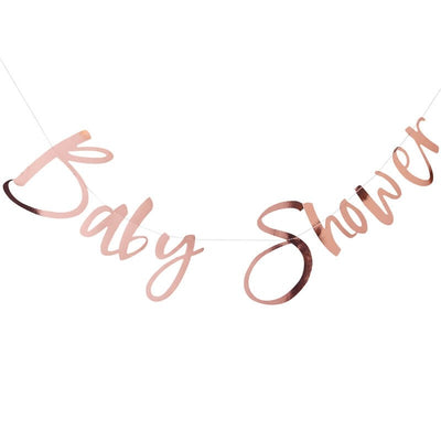 Rose Gold 'Baby Shower' Bunting - Twinkle Twinkle