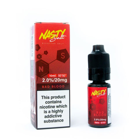 Nasty Juice Salts - Bad Blood - VapeShackUk
