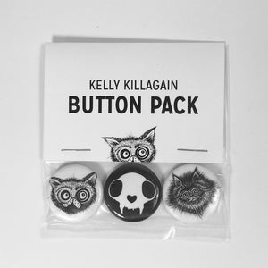 Black & White Button Pack