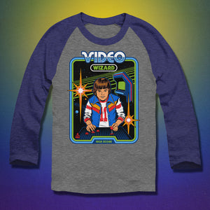 Video Wizard Baseball Tee