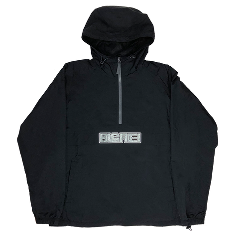Industrial Hooded Anorak Jacket - Black