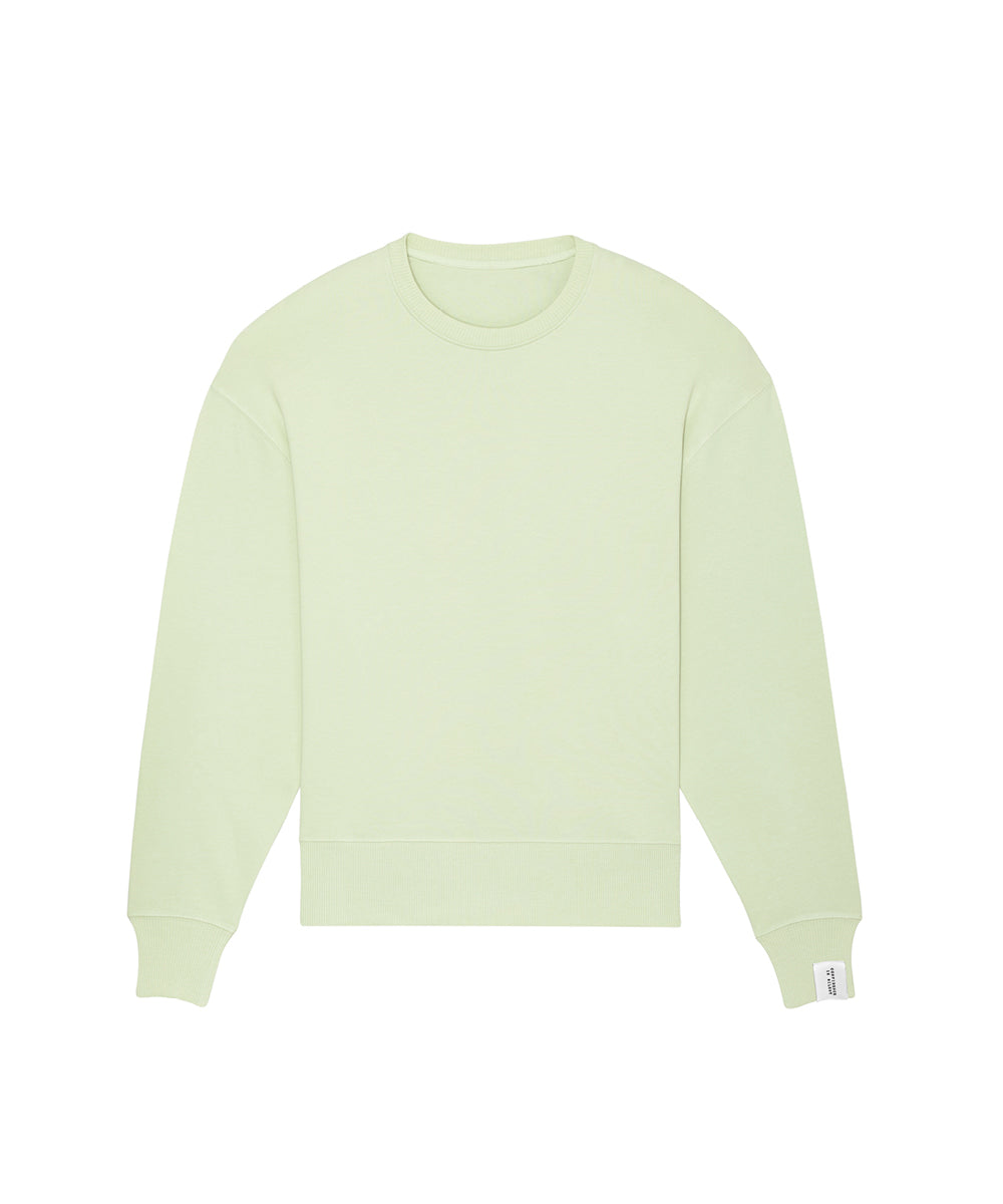 Pastellgrünes Sweatshirt oversized Confidence Is Silent