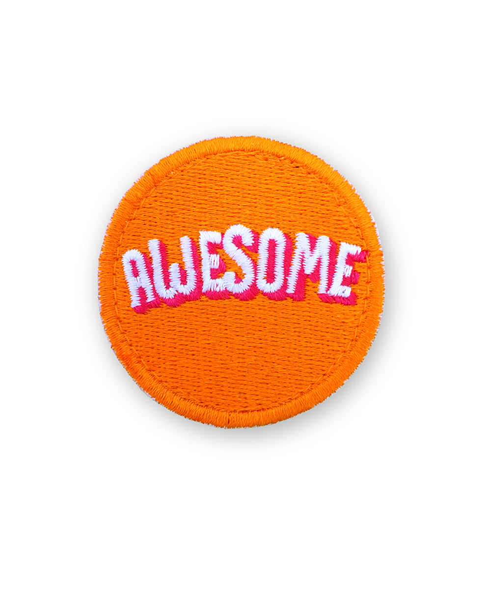 """Awesome""-Patch mit Klett"