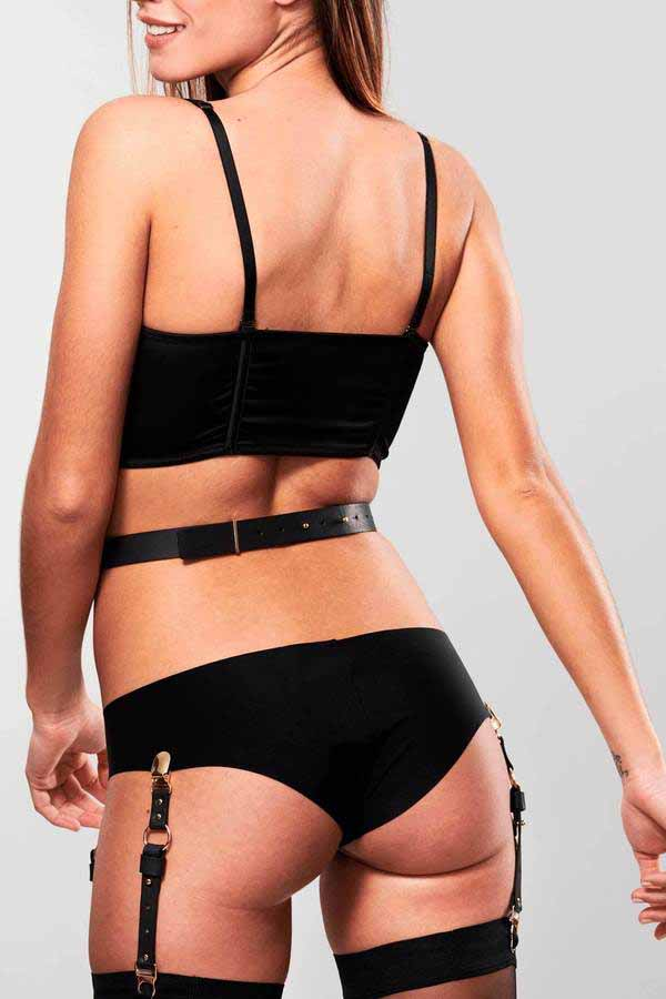 Maze Suspender Belt for Underwear & Stockings