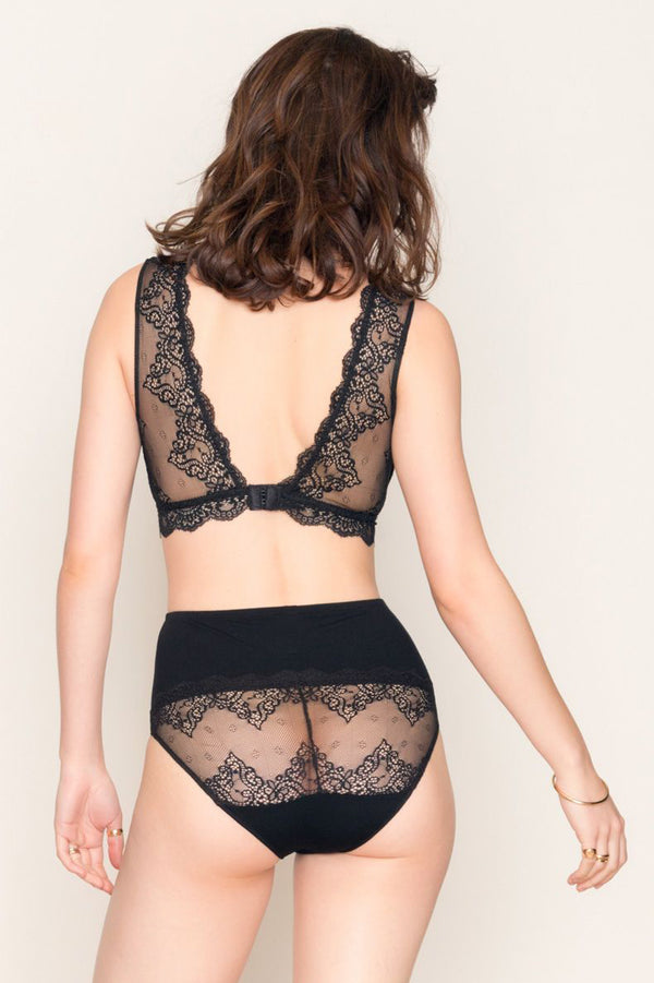 Only Hearts So Fine Lace Tank Bralette - Black