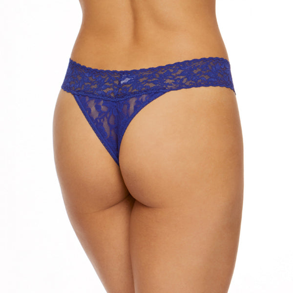 Hanky Panky Original Rise Thong - Midnight Blue