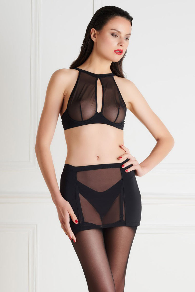 Maison Close Pure Tentation Naked Back Girdle - Black