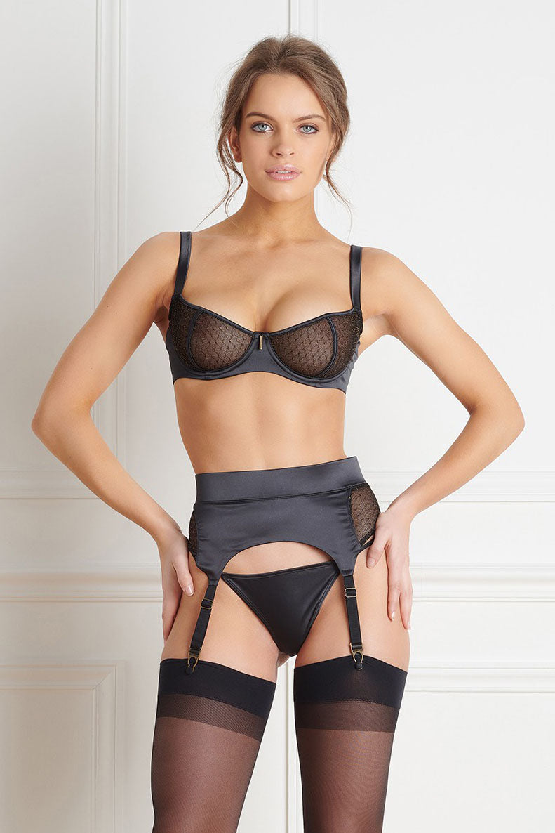 Maison Close Sage Decision Garter Belt