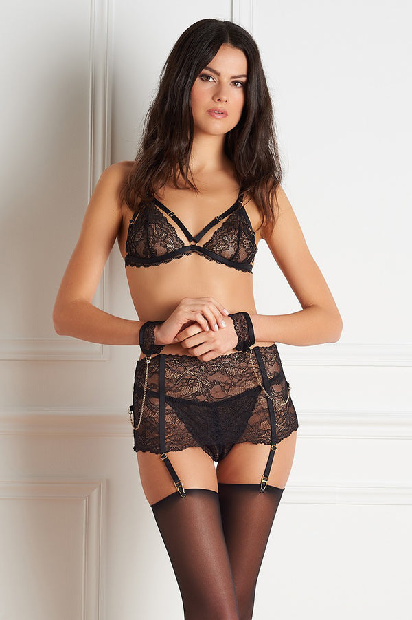 Maison Close Le Petit Secret Garter Belt with Cuffs