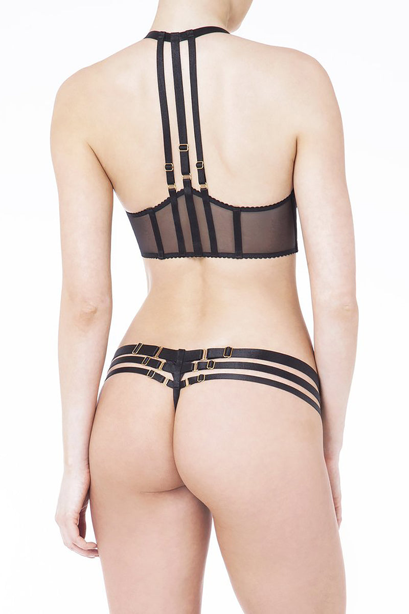 Bordelle - Art Deco Mesh Wrap Bra