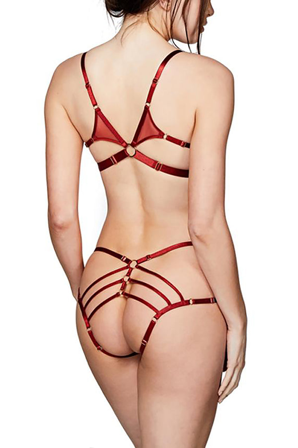 Bordelle - Art Deco Ouvert Strap Brief