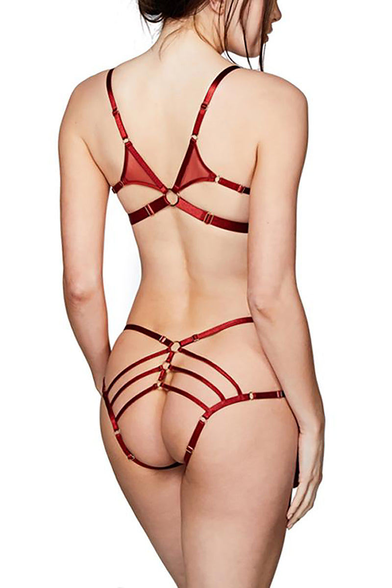 Bordelle Art Deco Ouvert Strap Brief