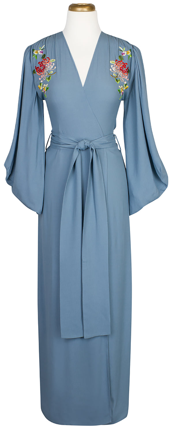 De Havilland Robe - French Blue Embroidery