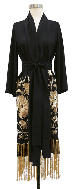 Flapper Robe - Black