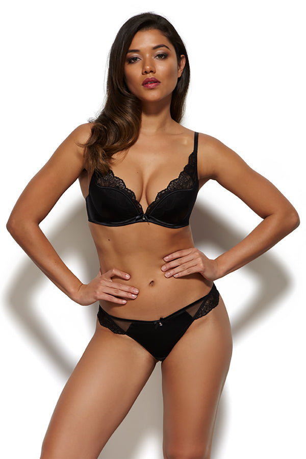 Gossard Venus High Apex Plunge Bra - Black