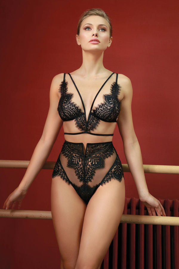 Jolidon Black Swan Triangle Bra