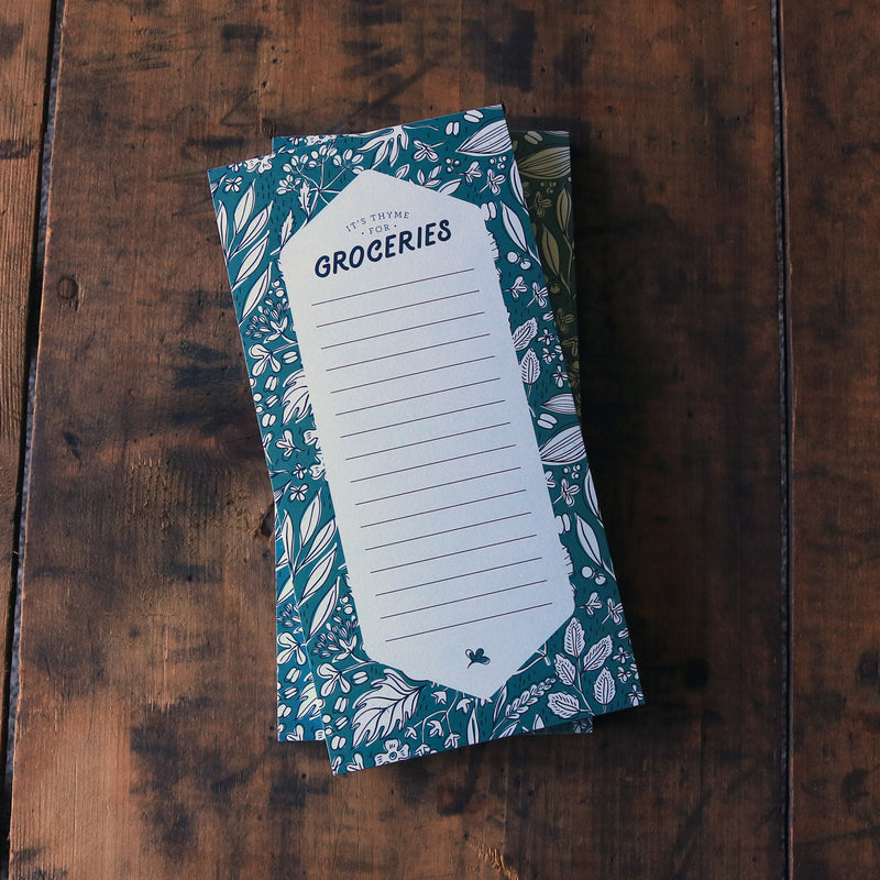 IT'S THYME FOR GROCERIES - NOTEPAD