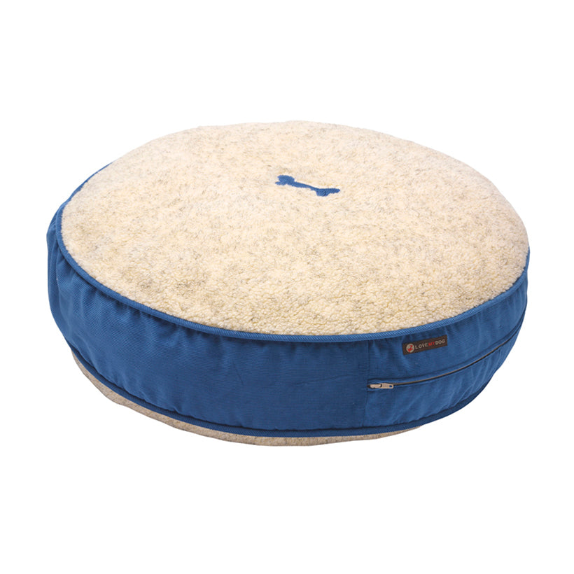 Bradbury Blue Corduroy Dog Bed
