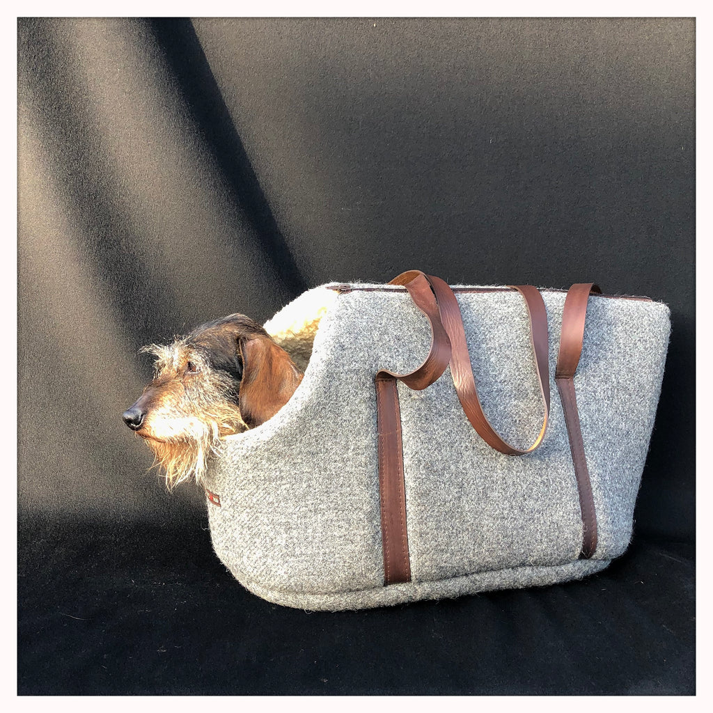 Designer mini daxi pet carrier and dog travel bed