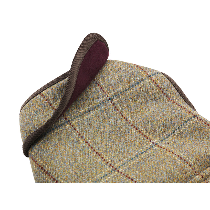 Moleskin and scottish tweed designer dog jacket