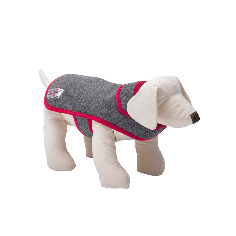 Daplyn Grey Harris Tweed Dog Coat