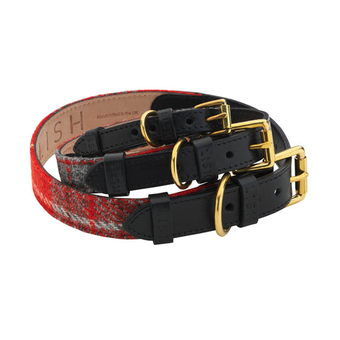 Luxury designer black leather dog collar for all dog breeds