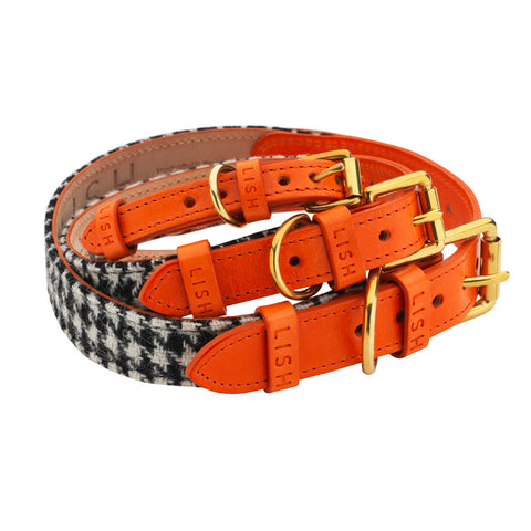 Harris Tweed dog collars for all dog breed sizes