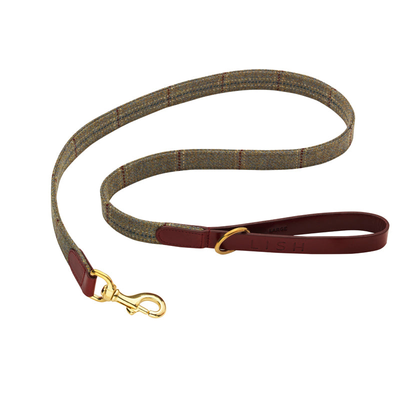 Dark wine maroon designer handcrafted dog leash