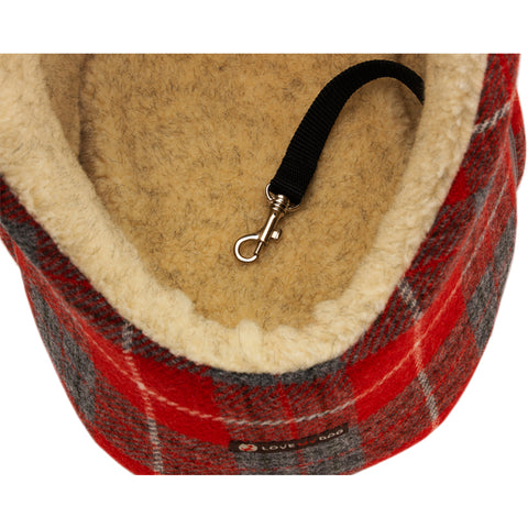Tartan designer harris tweed pet carrier and dog bag made in Britain