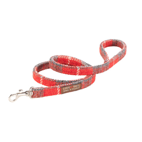 Hoxton Tartan Harris Tweed Dog Lead