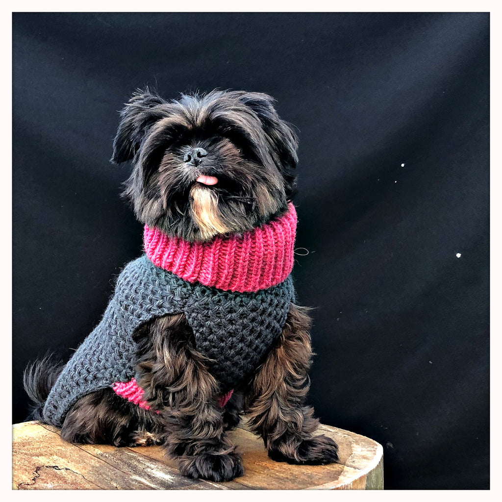 designer dog jumper and sweater pink for terriers and all dog breeds