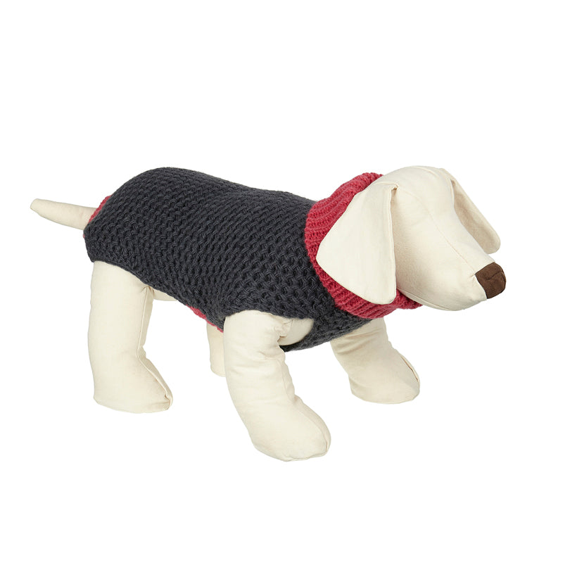 Smithy Pink Polo Neck Dog Sweater