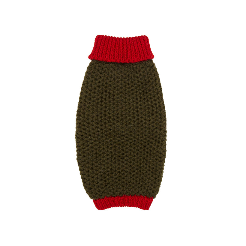 Smithy Red Polo Neck Dog Sweater