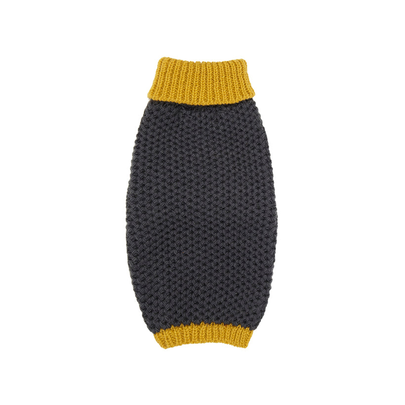 Yellow designer dog polo neck jumper and sweater