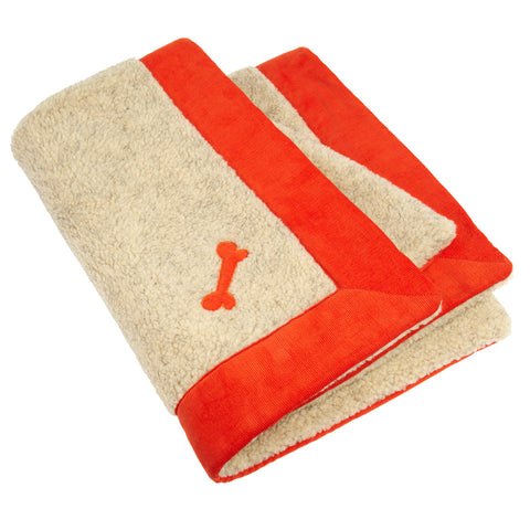 Spencer Corduroy Dog Blanket Orange